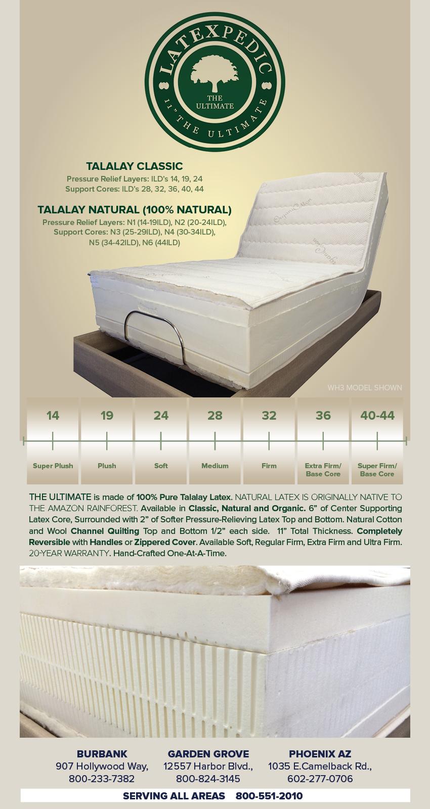 best quality phoenix latex mattress talalay are natural organic beds